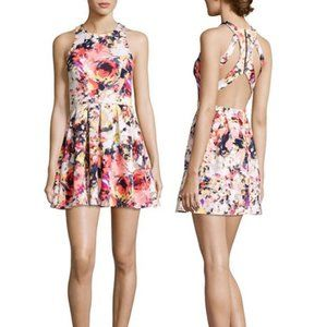 Romeo & Juliet Couture Floral Back Cut-Out Dress M